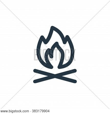 bonfire icon isolated on white background from outdoor collection. bonfire icon trendy and modern bo