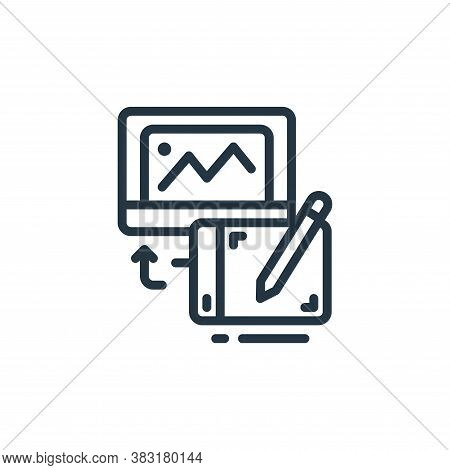 drawing tablet icon isolated on white background from design tools collection. drawing tablet icon t