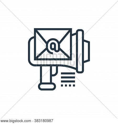email marketing icon isolated on white background from digital marketing collection. email marketing