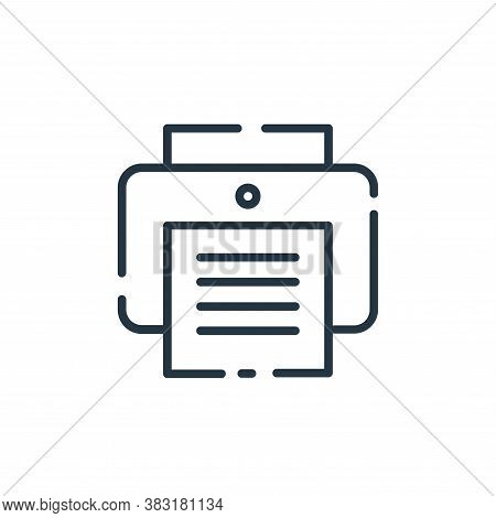 printer icon isolated on white background from user interface collection. printer icon trendy and mo