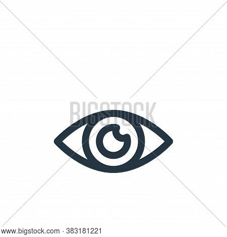 eye icon isolated on white background from graphic design collection. eye icon trendy and modern eye