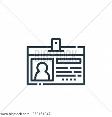 id card icon isolated on white background from office collection. id card icon trendy and modern id