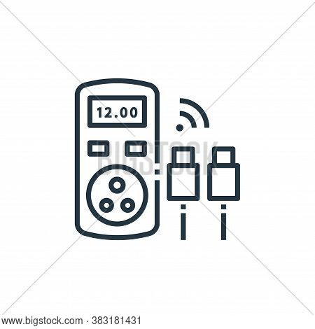 power meter icon isolated on white background from smart home collection. power meter icon trendy an