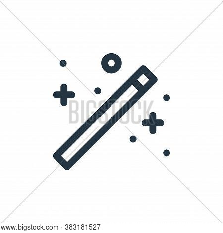 magic wand icon isolated on white background from graphic design collection. magic wand icon trendy