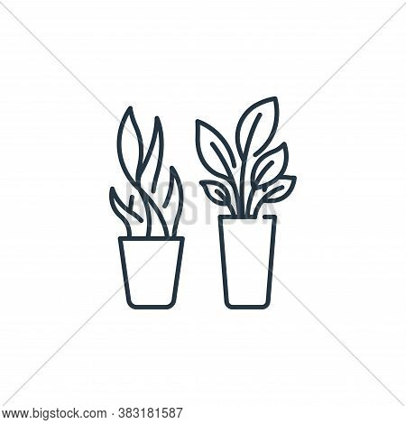 plants icon isolated on white background from interior design collection. plants icon trendy and mod