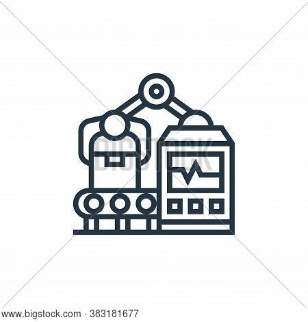 manufacturing icon isolated on white background from industrial process collection. manufacturing ic