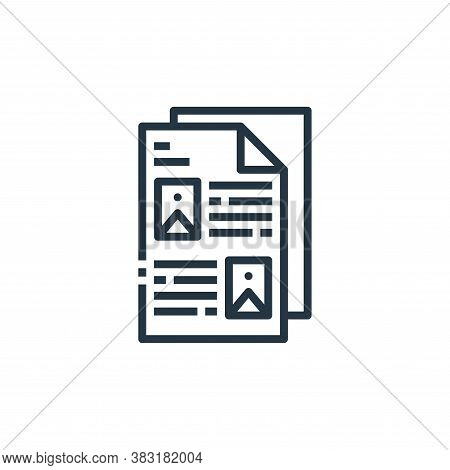document icon isolated on white background from office collection. document icon trendy and modern d