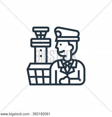 captain icon isolated on white background from airport collection. captain icon trendy and modern ca