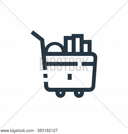 trolley icon isolated on white background from ecommerce collection. trolley icon trendy and modern