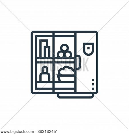 refrigerator icon isolated on white background from home appliances collection. refrigerator icon tr