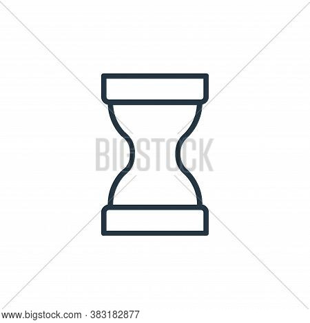 hourglass icon isolated on white background from banking and finance collection. hourglass icon tren