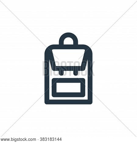 backpack icon isolated on white background from outdoor collection. backpack icon trendy and modern