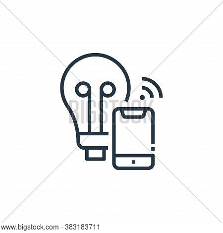 smart bulb icon isolated on white background from smart home collection. smart bulb icon trendy and