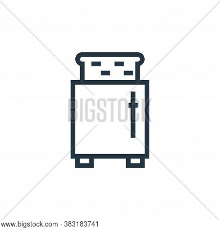 toaster icon isolated on white background from appliances collection. toaster icon trendy and modern