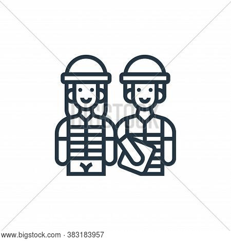 worker icon isolated on white background from industry collection. worker icon trendy and modern wor