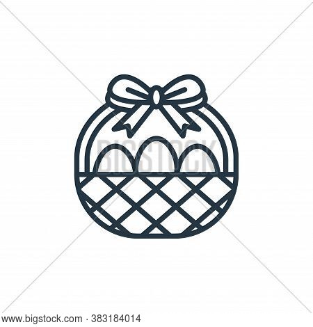 easter egg icon isolated on white background from easter day collection. easter egg icon trendy and
