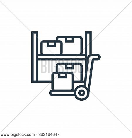 warehouse icon isolated on white background from industry collection. warehouse icon trendy and mode