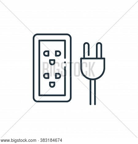 plug icon isolated on white background from interior design collection. plug icon trendy and modern