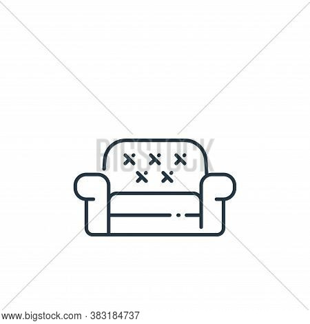 sofa icon isolated on white background from interior design collection. sofa icon trendy and modern