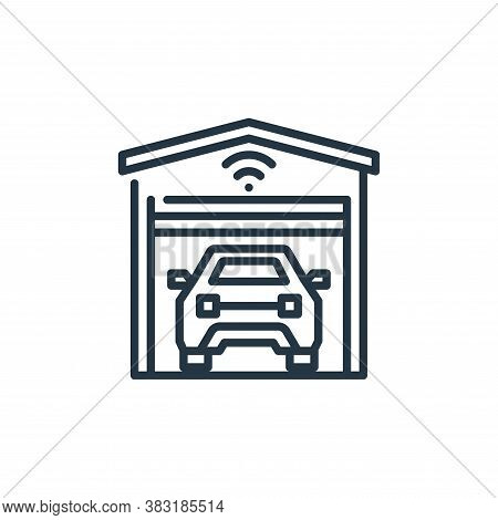 garage icon isolated on white background from smart home collection. garage icon trendy and modern g