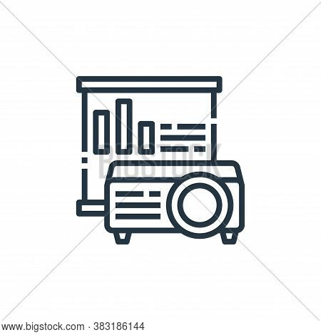 projector icon isolated on white background from office collection. projector icon trendy and modern
