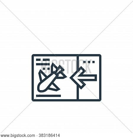 ticket icon isolated on white background from airport collection. ticket icon trendy and modern tick