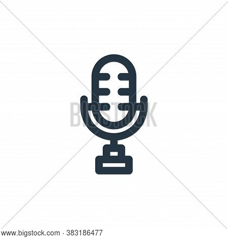 microphone icon isolated on white background from arts collection. microphone icon trendy and modern