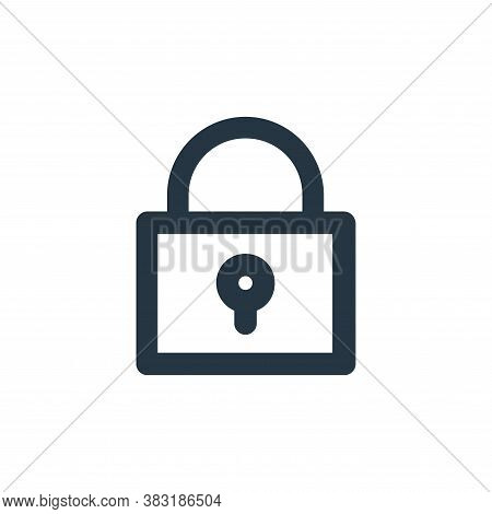 lock icon isolated on white background from miscellaneous collection. lock icon trendy and modern lo
