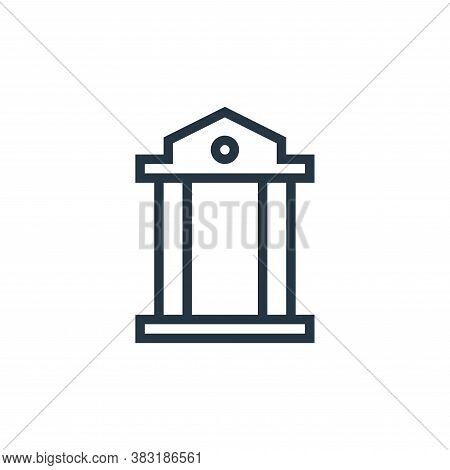 courthouse icon isolated on white background from business collection. courthouse icon trendy and mo