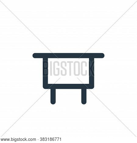 table icon isolated on white background from education collection. table icon trendy and modern tabl