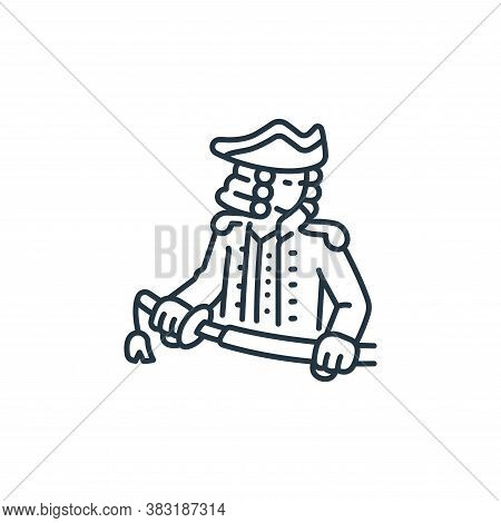 navy icon isolated on white background from pirate collection. navy icon trendy and modern navy symb