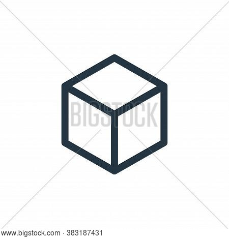 d cube icon isolated on white background from graphic design collection. d cube icon trendy and mode