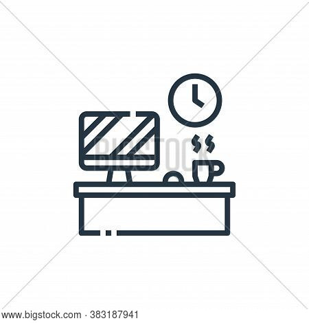 desktop icon isolated on white background from office collection. desktop icon trendy and modern des