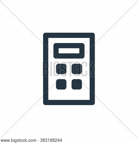 calculator icon isolated on white background from education collection. calculator icon trendy and m