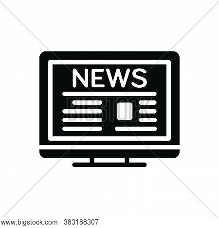 Black Solid Icon For Headline Title Heading Legend Subtitle Subheading News Newspaper Article