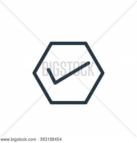 true icon isolated on white background from finance collection. true icon trendy and modern true sym