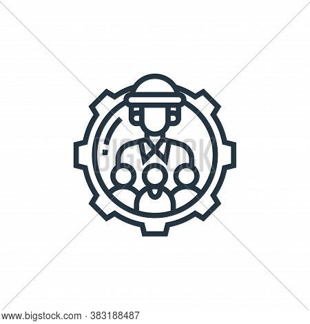 teamwork icon isolated on white background from industrial process collection. teamwork icon trendy