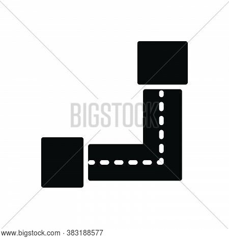 Black Solid Icon For Via Street Through By-means-of By-dint-of As-a-means