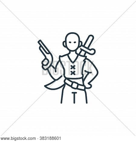 pirate icon isolated on white background from pirate collection. pirate icon trendy and modern pirat