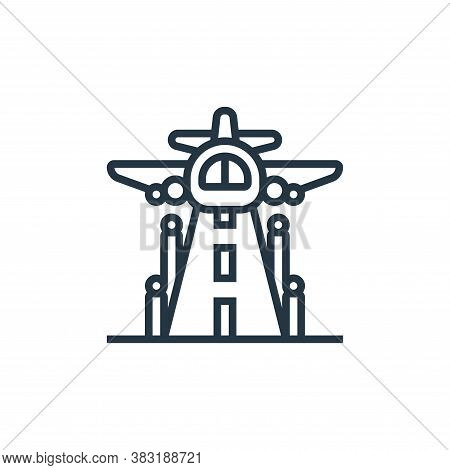 takeoff icon isolated on white background from airport collection. takeoff icon trendy and modern ta