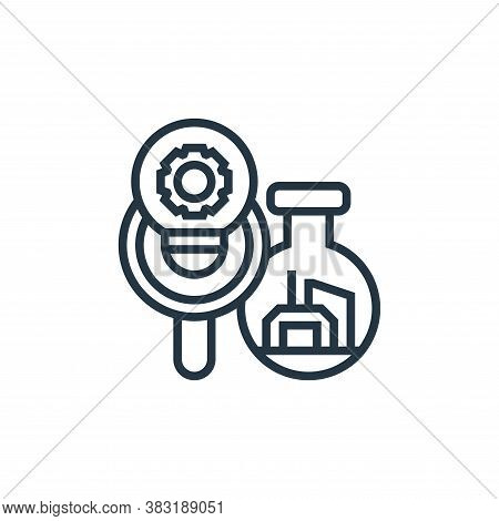 research icon isolated on white background from industry collection. research icon trendy and modern