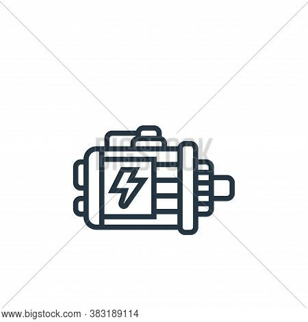 motor icon isolated on white background from electric vehicle collection. motor icon trendy and mode