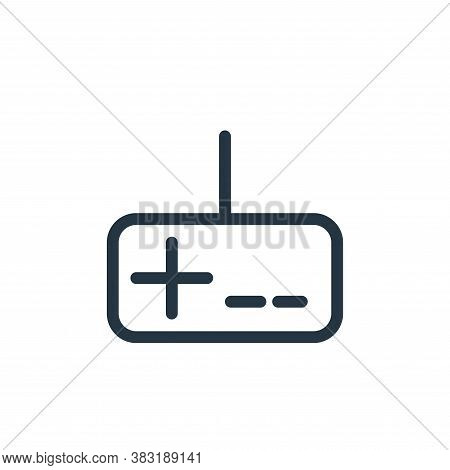 gamepad icon isolated on white background from media collection. gamepad icon trendy and modern game