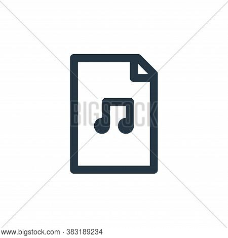 music file icon isolated on white background from arts collection. music file icon trendy and modern