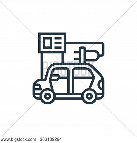 recharge icon isolated on white background from electric vehicle collection. recharge icon trendy an