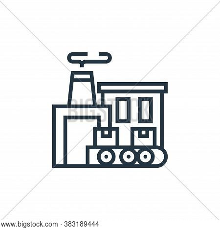 manufacture icon isolated on white background from industrial process collection. manufacture icon t