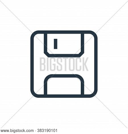 floppy disc icon isolated on white background from media collection. floppy disc icon trendy and mod