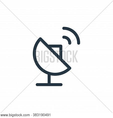 parabolic antenna icon isolated on white background from media collection. parabolic antenna icon tr