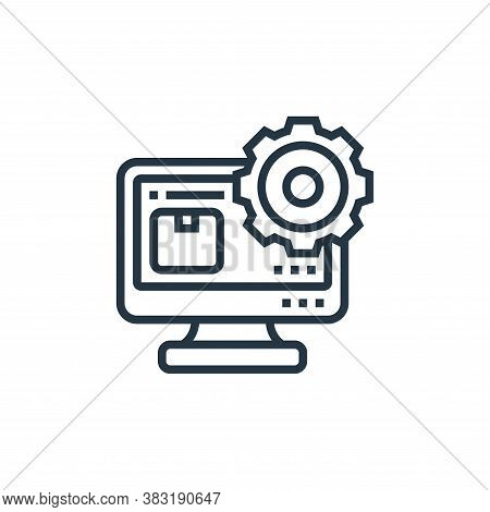 content management system icon isolated on white background from industry collection. content manage