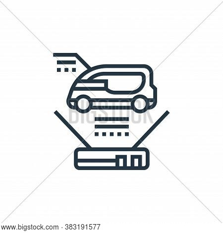 smart car icon isolated on white background from electric vehicle collection. smart car icon trendy
